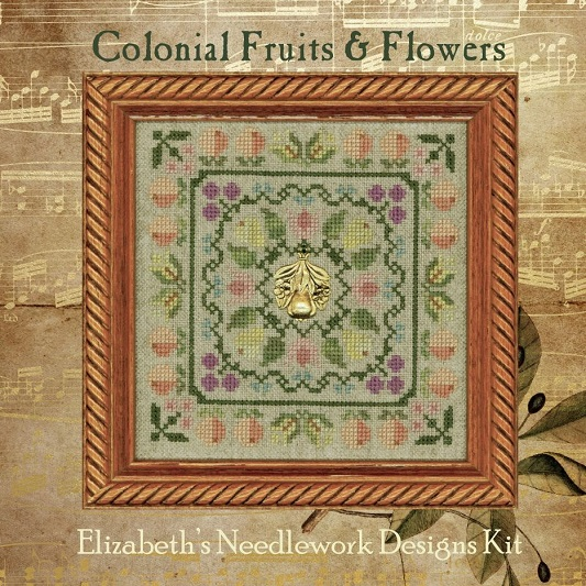click here to view larger image of Colonial Fruits and Flowers (chart with charms/buttons)