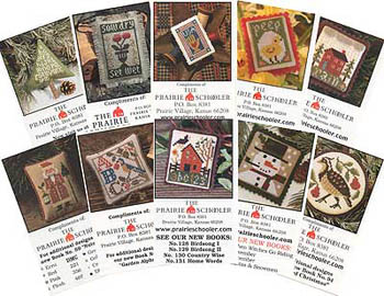 click here to view larger image of Garden Samplers - Card Set C (chart)