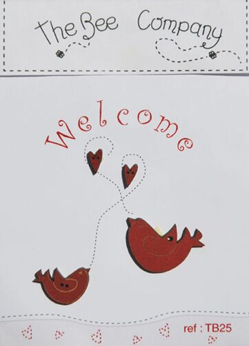 click here to view larger image of Welcome Red Birds Wooden Buttons (buttons)