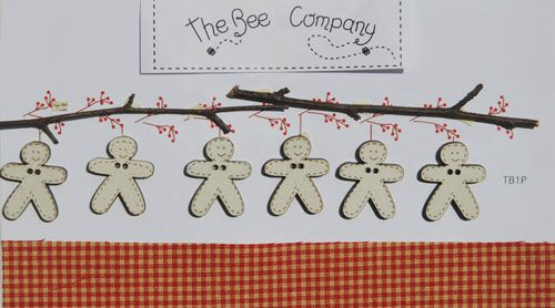 click here to view larger image of Red Christmas Garland Gingerbread Men Buttons (buttons)