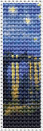 click here to view larger image of Starry Night Over Rhone - Bookmark (chart)