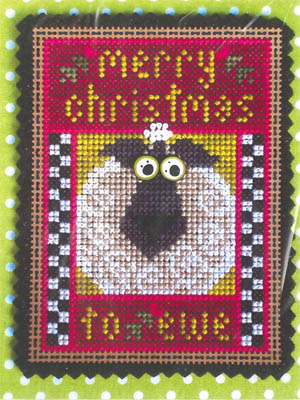 click here to view larger image of Merry Christmas To Ewe (counted cross stitch kit)