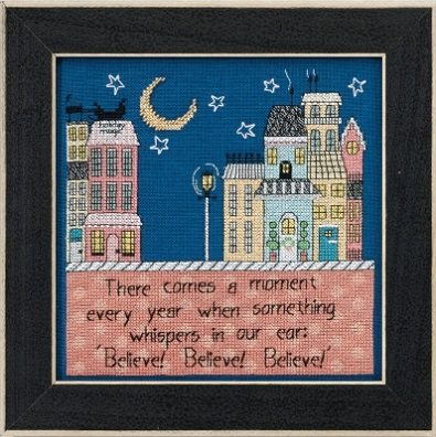 click here to view larger image of Believe - Curly Girl (counted cross stitch kit)