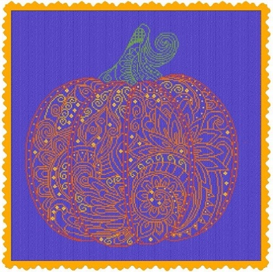 click here to view larger image of Lace Pumpkin (chart)