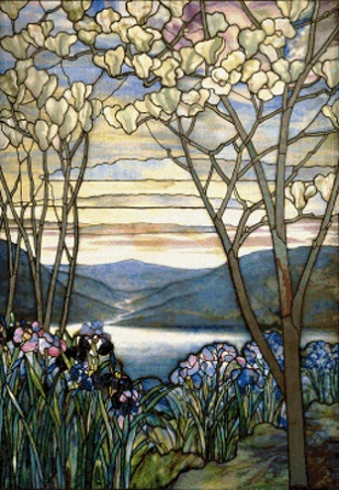 click here to view larger image of Magnolia and Irises - Louis Comfort Tiffany (chart)