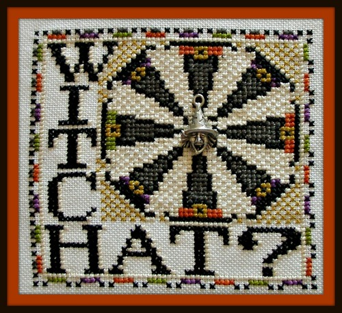 click here to view larger image of Wordplay - Witch Hat? (chart with charms/buttons)