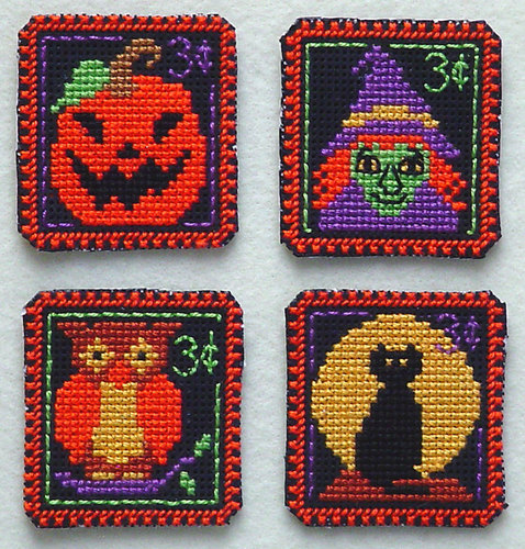 click here to view larger image of Holiday Stamps - Halloween 3 Cent (chart)