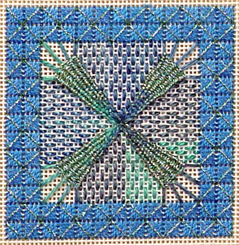 click here to view larger image of Jennies Star Needlepoint w/ Ort Box (needlepoint)