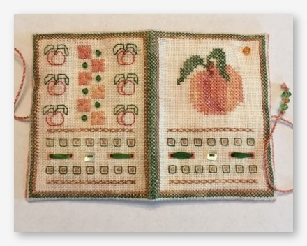 click here to view larger image of Just Peachy Sewing Case (counted cross stitch kit)