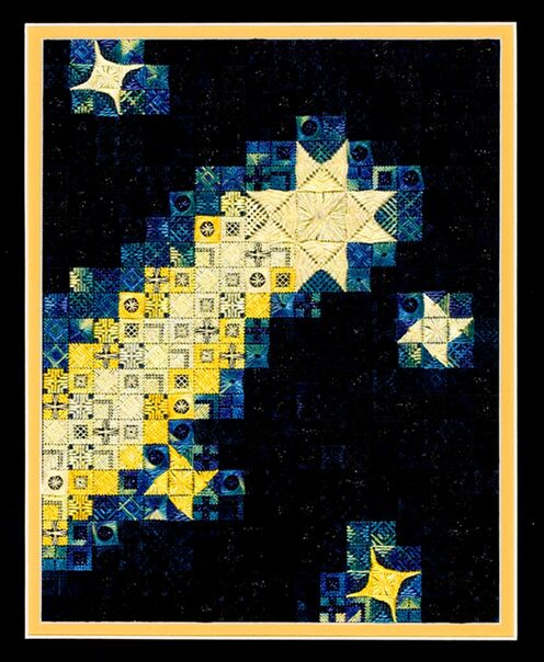 click here to view larger image of Blazing Stars (counted canvas chart)