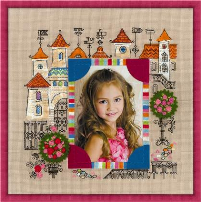 click here to view larger image of Photo Frame Princess Castle (counted cross stitch kit)