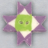 click here to view larger image of Lilac Ohio Star Ceramic Button (buttons)