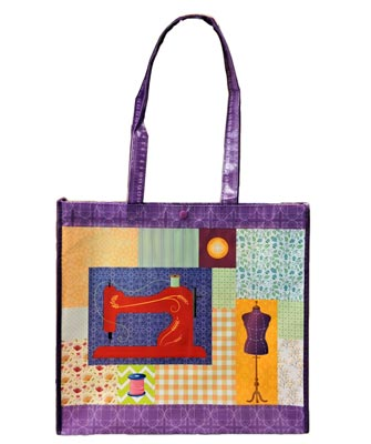 click here to view larger image of Sewing Tote In Purple Trim (accessory)