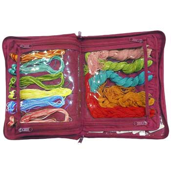 click here to view larger image of Embroidery Thread Organizer - Fuchsia Pink (accessory)