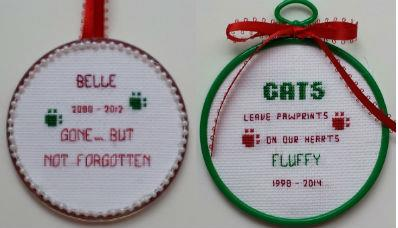 click here to view larger image of Pet Memorial Ornaments II (chart)
