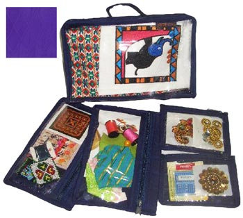 click here to view larger image of Craft Storage Box - Purple (accessory)