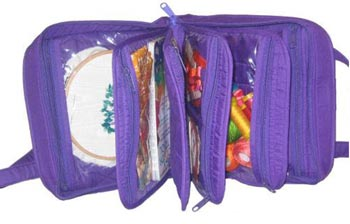 click here to view larger image of Oval Craft Bag - Purple (accessory)