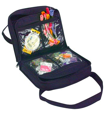click here to view larger image of Oval Craft Bag - Navy Blue (accessory)