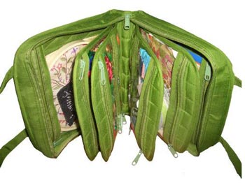 click here to view larger image of Oval Craft Bag - Lime Green (accessory)