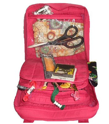 click here to view larger image of Oval Craft Bag - Fuchsia Pink (accessory)