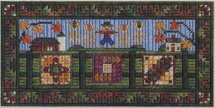 click here to view larger image of Airing the Autumn Quilts (counted canvas chart)