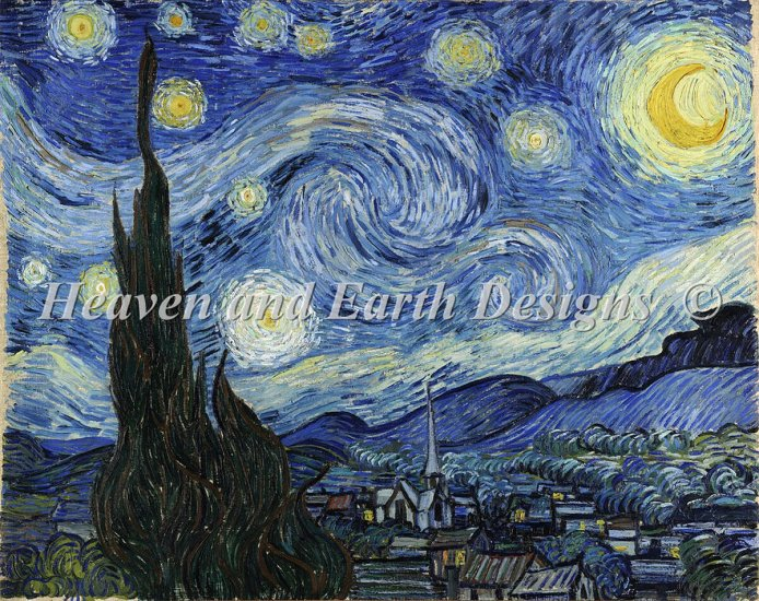 click here to view larger image of Supersized A Starry Starry Night (chart)