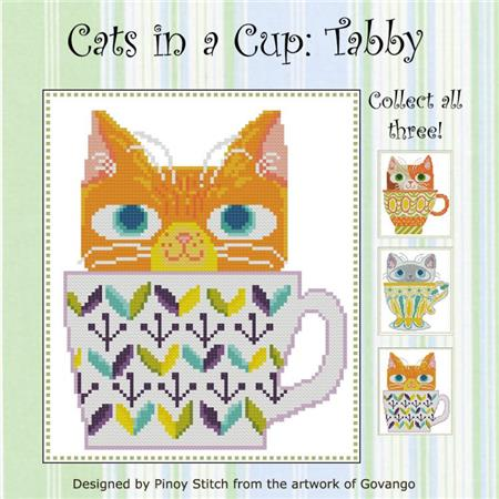 click here to view larger image of Cats In A Cup - Tabby (chart)