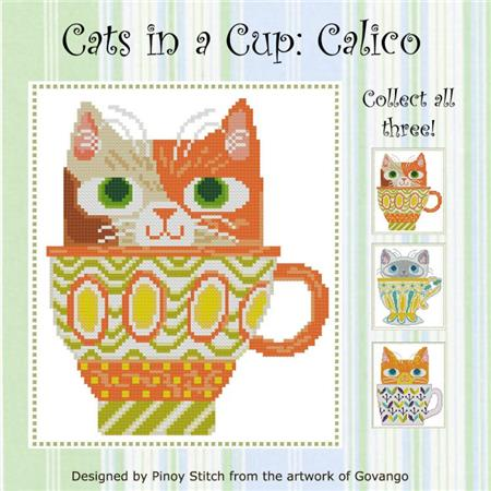click here to view larger image of Cats In A Cup - Calico (chart)