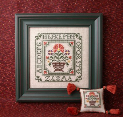 Country Flowers Sampler - click here for more details about chunky cross stitch kit