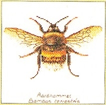 click here to view larger image of Bee (Aida) (counted cross stitch kit)