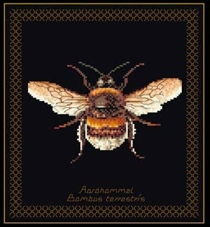 click here to view larger image of Bee (On Black) (counted cross stitch kit)