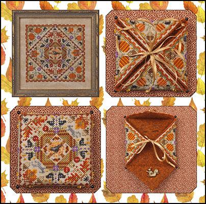 click here to view larger image of Autumn In The Meadow (includes embellishments) (chart with charms/buttons)