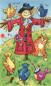 click here to view larger image of Scarecrow - Birds Of A Feather (27ct) (counted cross stitch kit)