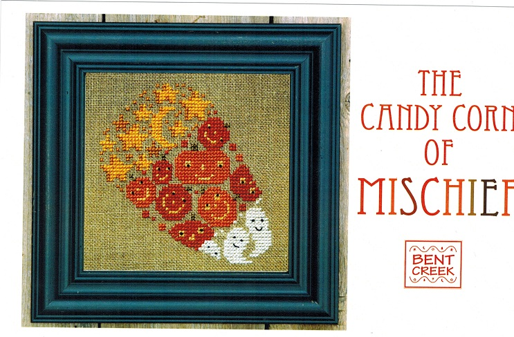 click here to view larger image of Candy Corn Of Mischief (counted cross stitch kit)