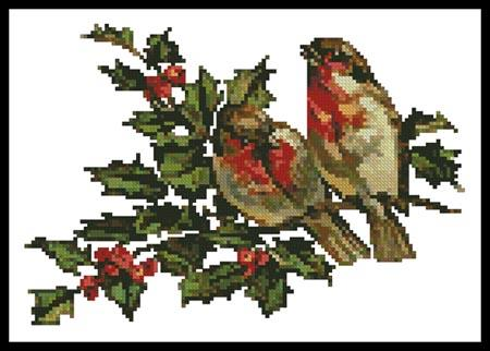 click here to view larger image of Birds And Holly (chart)