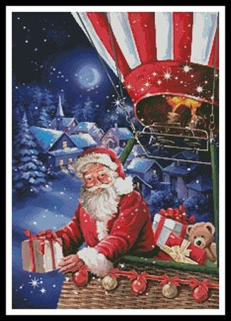 click here to view larger image of Santa In A Hot Air Balloon (chart)