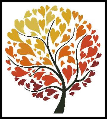 click here to view larger image of Autumn Tree Of Hearts  (Kudryashka) (chart)