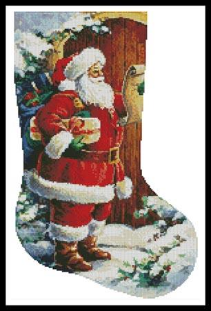 click here to view larger image of Santa At The Door Stocking (Right Facing) (chart)