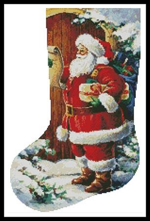 click here to view larger image of Santa At The Door Stocking (Left Facing) (chart)