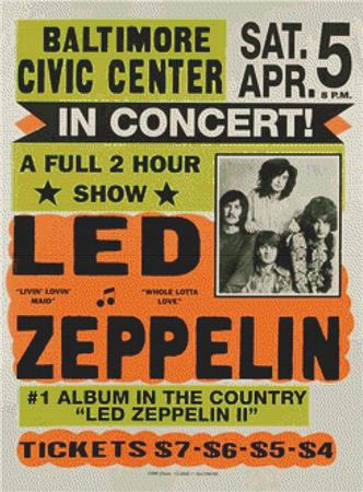 click here to view larger image of Led Zeppelin In Concert (chart)
