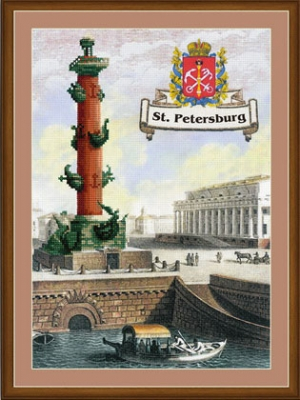 click here to view larger image of St Petersburg - Cities of Russia (stamped cross stitch kit)