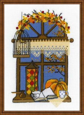 click here to view larger image of Autumn Window (counted cross stitch kit)