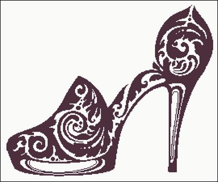 click here to view larger image of Sexy Shoes Silhouette (chart)