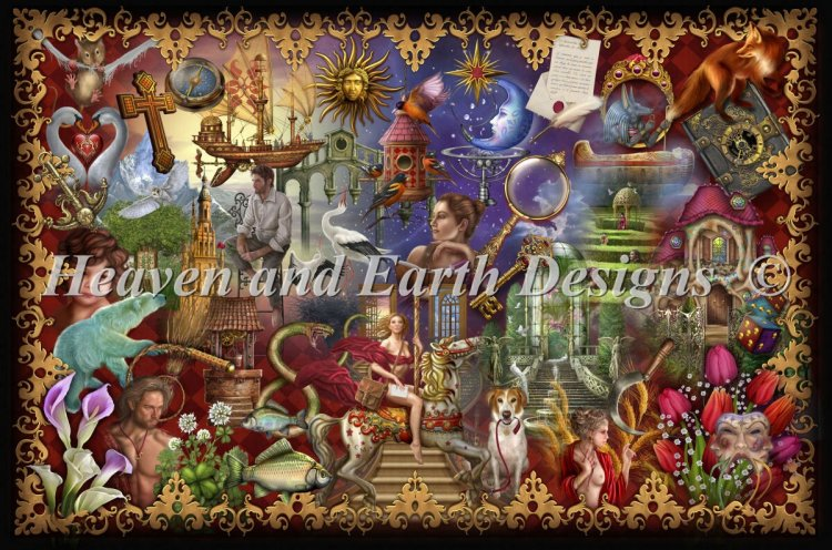 click here to view larger image of Gilded Reverie Lenormand (chart)