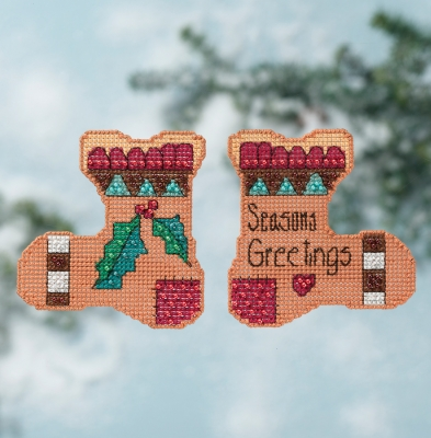 click here to view larger image of Seasons Greetings - Stitcks Kits (counted cross stitch kit)