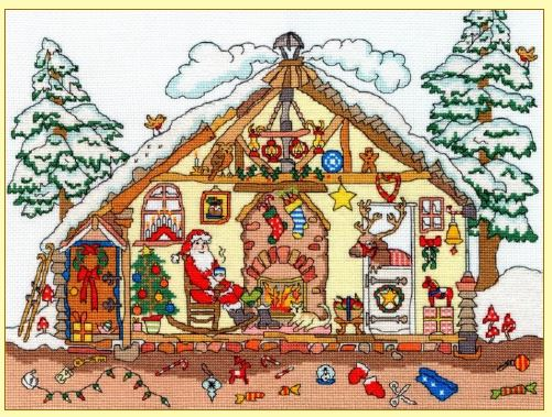 click here to view larger image of Cut Thru Christmas Bothy (counted cross stitch kit)