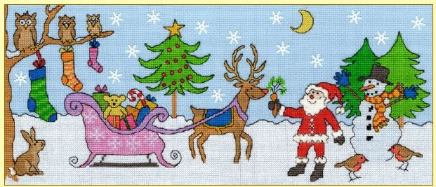click here to view larger image of Christmas Fun (counted cross stitch kit)