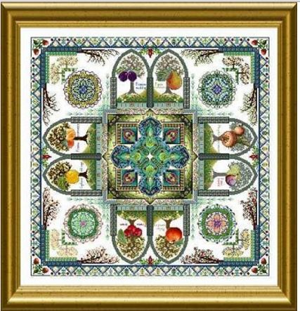 click here to view larger image of Medieval Fruit Garden Mandala, The - Pomarium (chart)