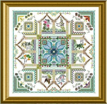 click here to view larger image of Medieval Dyer's Garden Mandala, The - Tinctorium (chart)