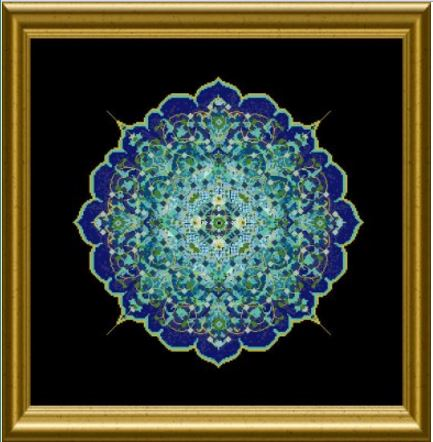 click here to view larger image of Blue Moroccan Lace Mandala, The  (chart)